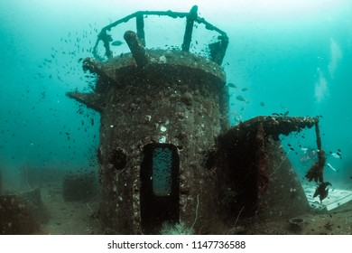 Scuba diving the ship wreck, Chumphon, Thailand