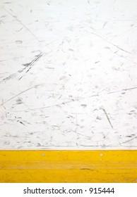 scuffed hockey boards