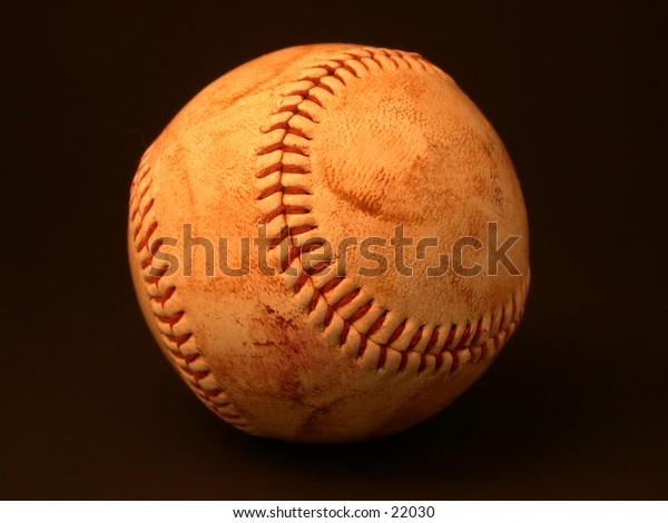 Scuffed, well-used baseball - take me out to the ballgame!
