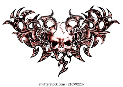 Scull and  tribal