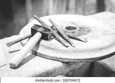 sculptor tools of marble