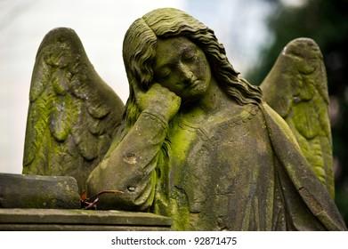 Sculpture of Angel at a Prague cemetery