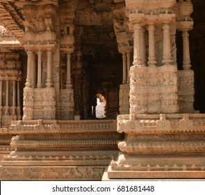 Sculpture around Vitthal temple at Hampi, Karnataka, India.