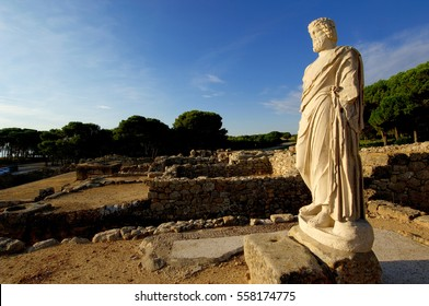 Sculpture of Asclepius in Empuries ruins, Girona province, Catalonia, Spain