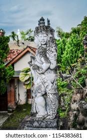 Sculpture in budhist temple Brahma Vihara-Arama Banjar in Lovina, Indonesia, Bali.