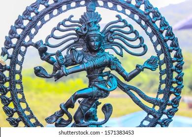 Sculpture of Dancing Shiva. Dance move of shiva. old famous statue of shiva.
