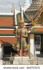 Sculpture of the demon in the temple in Bangkok, Thailand