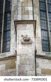 Sculpture detail of cathedral, Regensburg, Germany