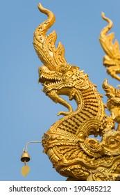 Sculpture dragon at Wat Sri Pan Ton,Muang Nan,Thailand