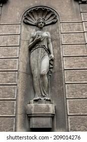 Sculpture from facade in Belgrade, Serbia