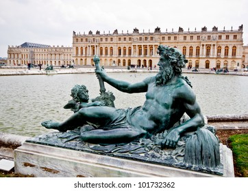 sculpture in the garden of chateau de Versailles, France