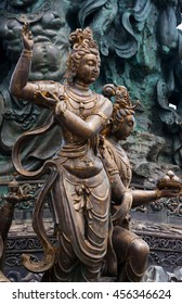Sculpture a goddess on Lingshan temple in wuxi of china.