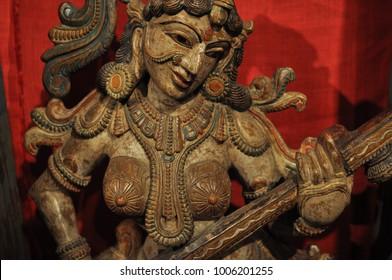 Sculpture of the goddess Saraswati
