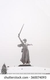 "Sculpture, greatest in the world, ""Motherland"" on Mamayev Kurgan in the city of Volgograd"