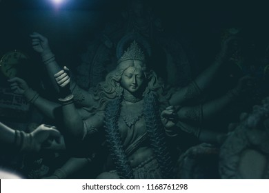 Sculpture of Hindu Goddess Durga