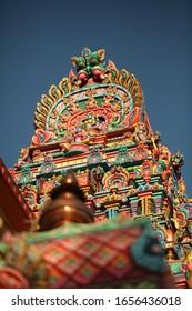 sculpture hindu temple in Kandy , Sri Lanka