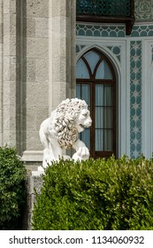 Sculpture of a lion in the Vorontsov Palace, Alupka, Crimea