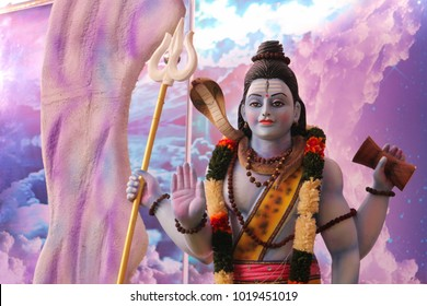 Sculpture of Lord Shiva in India, Tirupati.