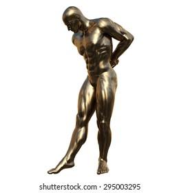Sculpture of the man