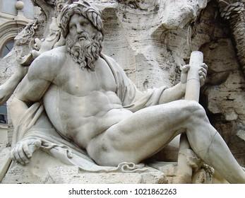 Sculpture - man reclining