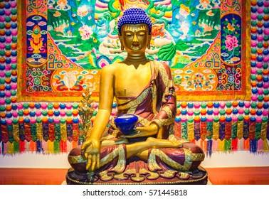The sculpture of Medicine guru Buddha