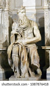 Sculpture of Michelangelo's Moses in San Pietro in Vincoli in Rome