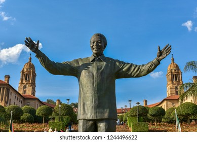 The Sculpture of Nelson Mandela at the Union Buildings, Pretoria, South Africa on 17th October 2018