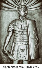 Sculpture of Roman centurion