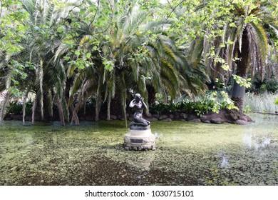 Sculpture at Royal Botanic Gardens, in Melbourne, Victoria, Australia