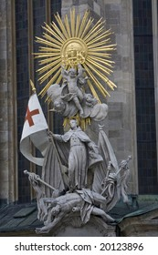Sculpture at St. Stephan's cathedral in vienna