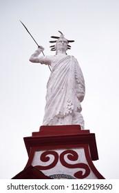 Sculpture in town hall. Cuetzalan Del Progreso, Puebla Mexico.