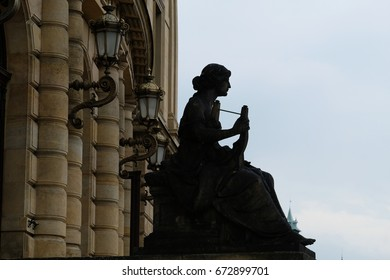Sculpture of a woman, Prague, Czech Republic