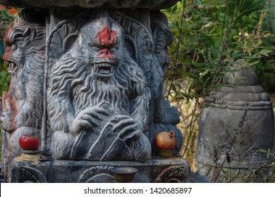 Sculpture of a yeti at Disney's Animal Kingdom.
