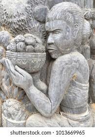 Sculptured wood pattern