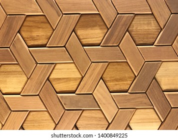 Sculptured wood pattern wall close thai style