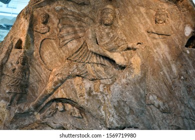Sculptures and carvings from the Temple of Mithras in Jajce, Bosnia-Herzegovina