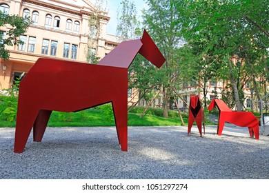 Sculptures of horses