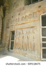 sculptures at Kanheri caves in India