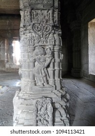 Sculptures  of mother and child at Gondeshwar temple, India