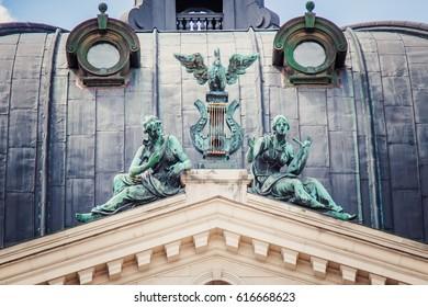 sculptures on lviv opera house