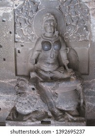 Sculptures and reliefs at Ellora Caves