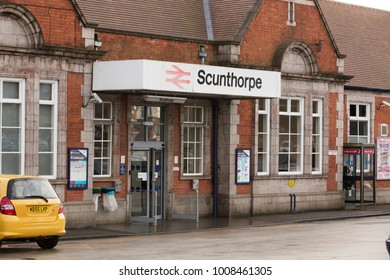 Scunthorpe Station entrance - Scunthorpe, Lincolnshire, United Kingdom - 23rd January 2018