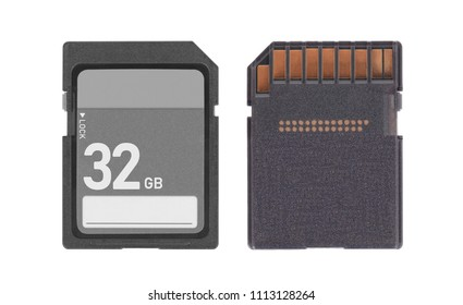 SD Memory card isolated on white background - 32 Gigabyte
