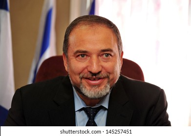 SDEROT,ISR - APR 08:Avigdor Lieberman on Apr 08 2010:He was Israel Minister of Foreign Affairs until 18 Dec 2012,when investigation in which he was charged with fraud and breach of trust,took effect