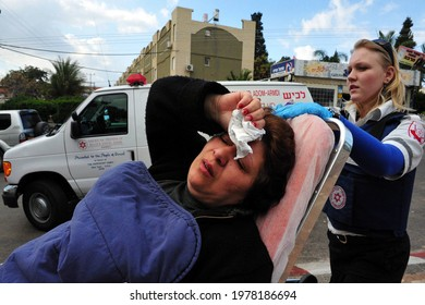 SDEROT,ISR - DEC 12 2008:Israeli woman suffering from Post-traumatic stress disorder after a rocket attack. PST develop in people who have been through a traumatic event which threatened their life.