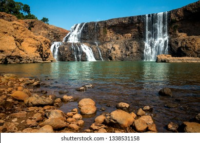 Se Pong Lai waterfall in summer. The most famous lao waterfall.Sae Pong Waterfall flows in the Xe-Pian River in the south of Laos after the Xe-Pian Xe Dam Later,in southern Laos,ASIA