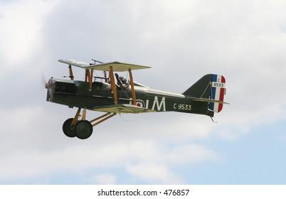 SE5A biplane from first world war