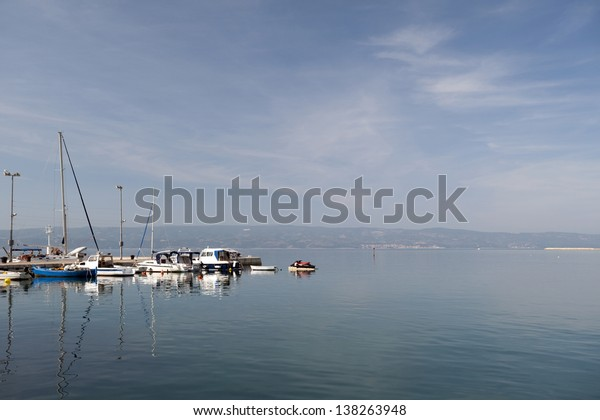 Sea - Adriatic sea with a port in Omis