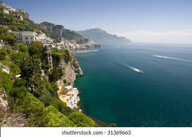 Sea in Amalfi Coast. Naples - Best of Italy
