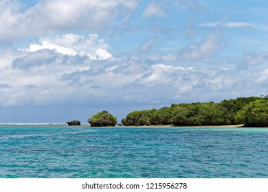 Sea around Kabira bay, Ishigaki island, Okinawa, Japan